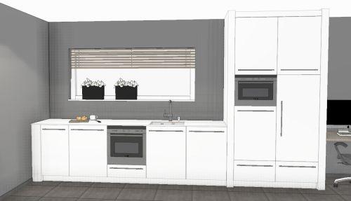 VRI interieur: aanzicht keuken met spoeldeel