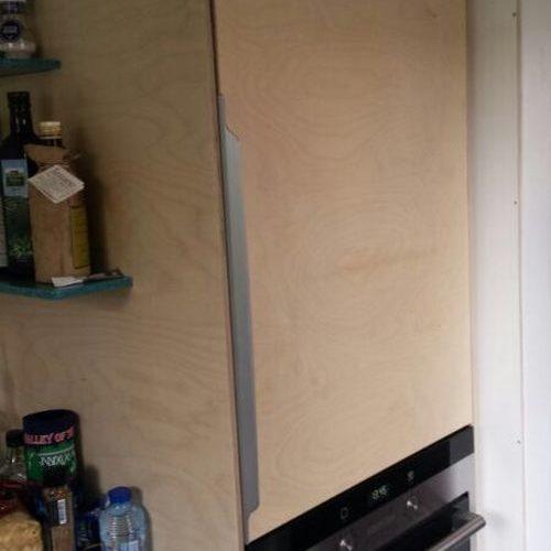 ORION ontwerp / VRI interieur: keuken in berken multiplex