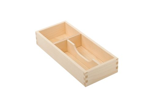 VRI interieur: exclusieve houten bestekbak