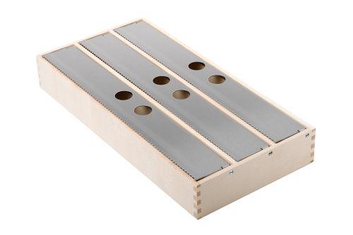 VRI interieur: exclusieve houten foliehouder