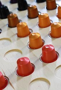 VRI interieur: lade voor Nespresso cups