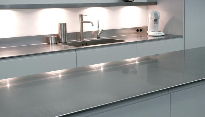 VRI interieur RVS werkblad keuken