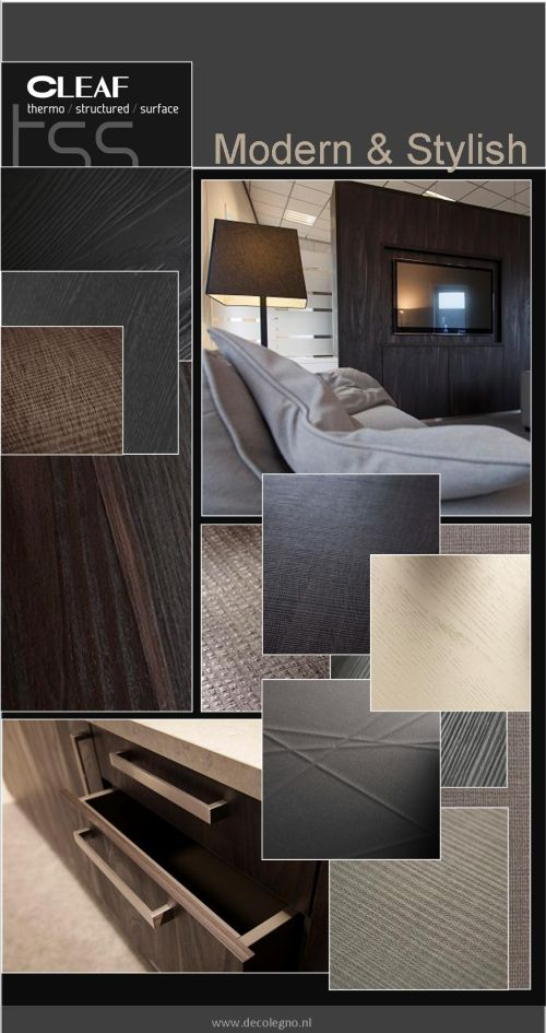 VRI interieur: moodboard Decolegno modern & stylish