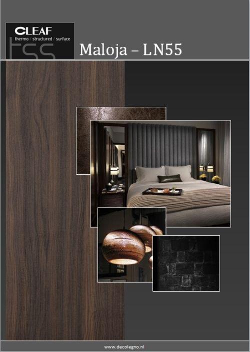 VRI interieur: moodboard Decolegno structuur Maloja LN55