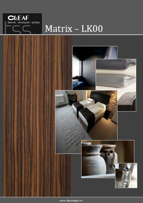 VRI interieur: moodboard Decolegno structuur Matrix LK00