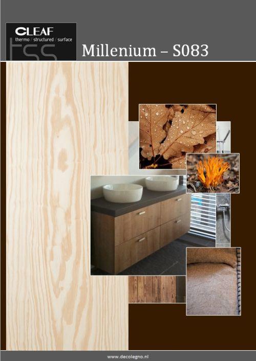 VRI interieur: moodboard Decolegno structuur Millenium S083