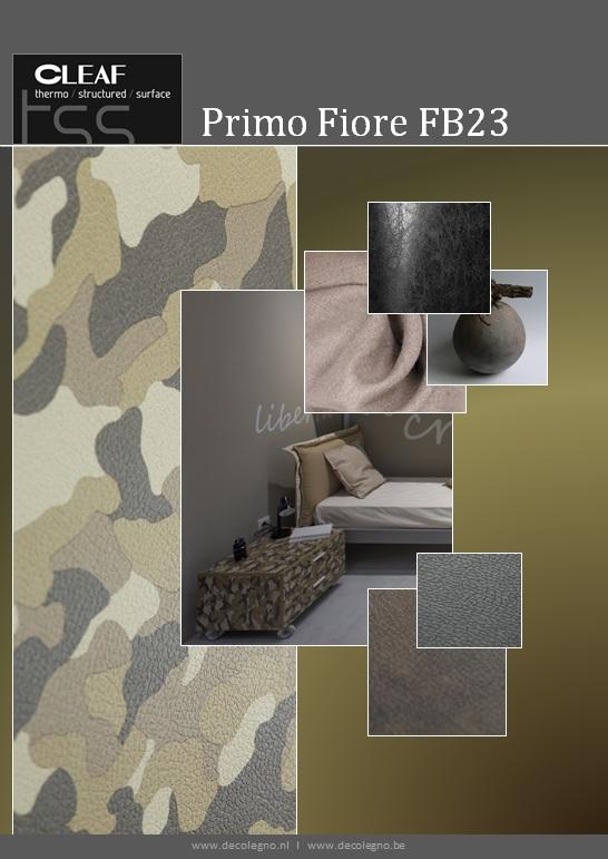 VRI interieur: moodboard Decolegno structuur PrimoFiore FB23