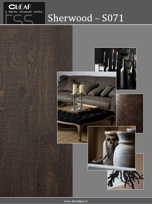 VRI interieur: moodboard Decolegno structuur Sherwood S071