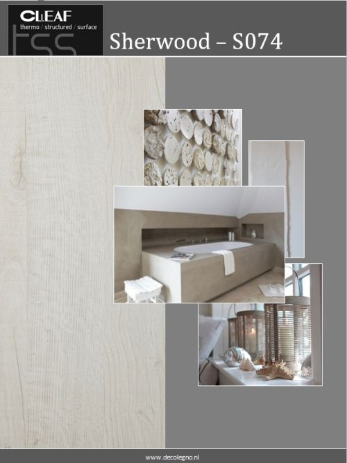 VRI interieur: moodboard Decolegno structuur Sherwood S074