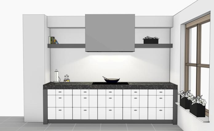 VRI interieur: kookgedeelte keuken 3D