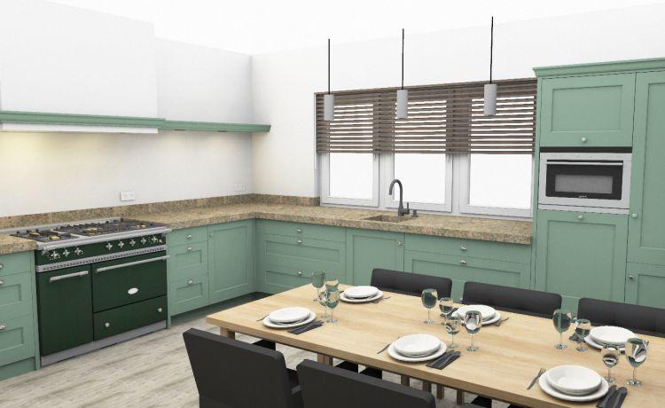 VRI interieur: landelijke keuken in 3D