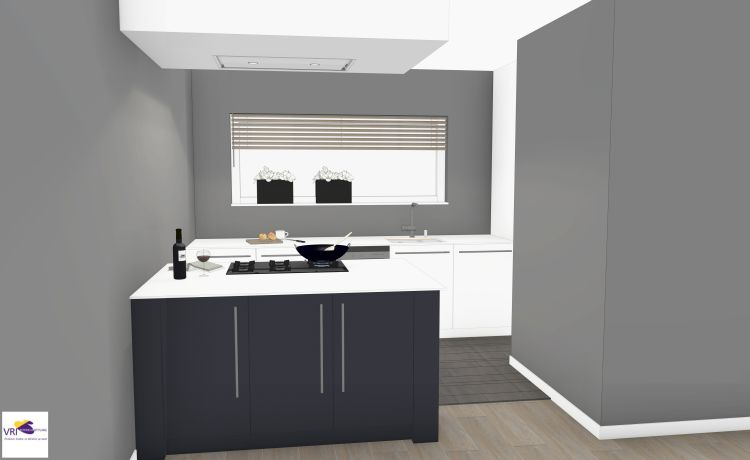 VRI interieur: keuken in 3D